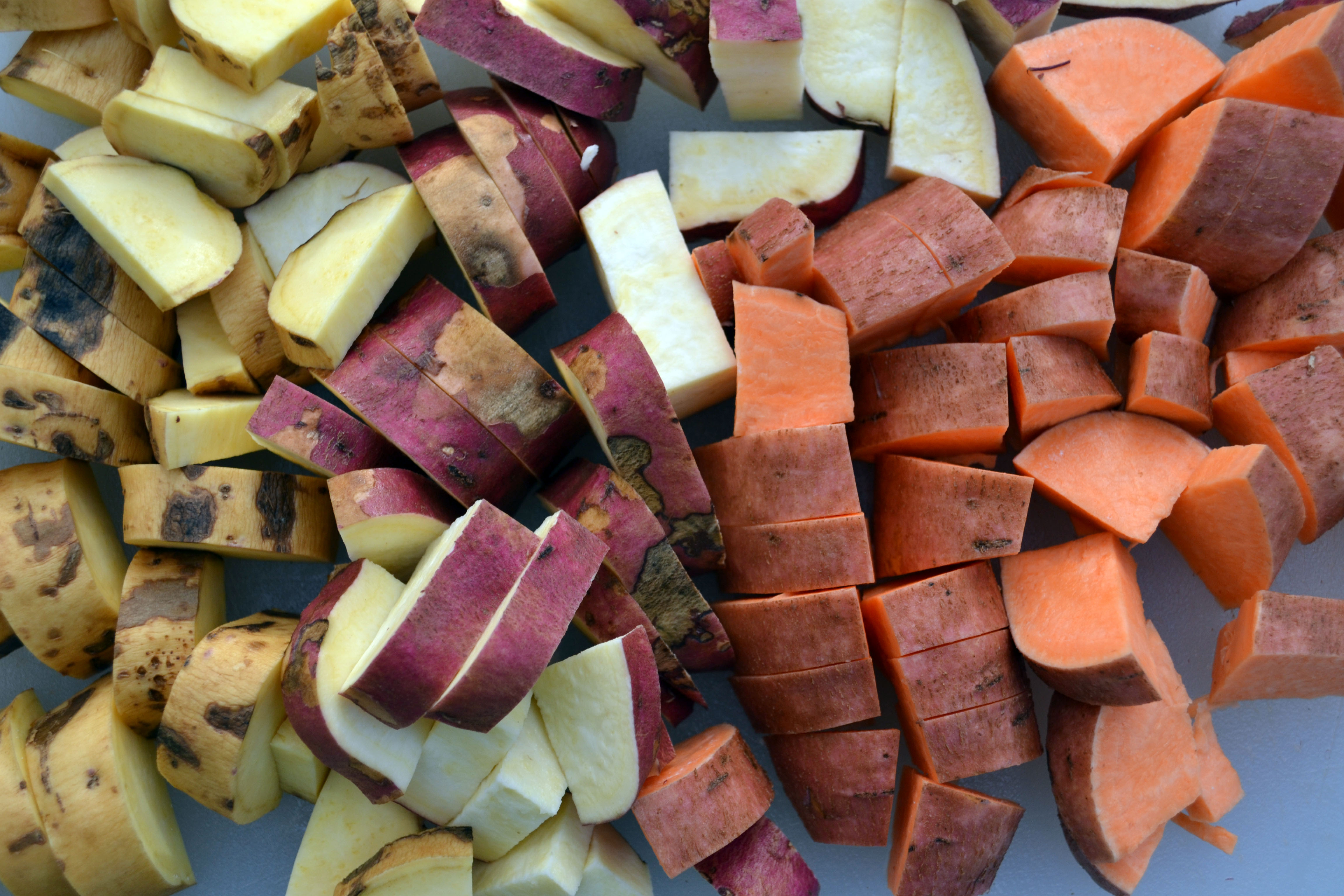 Roasted Sweet Potato, Apple, and Chicken Sausage Soup ... Beauregard Sweet Potatoes