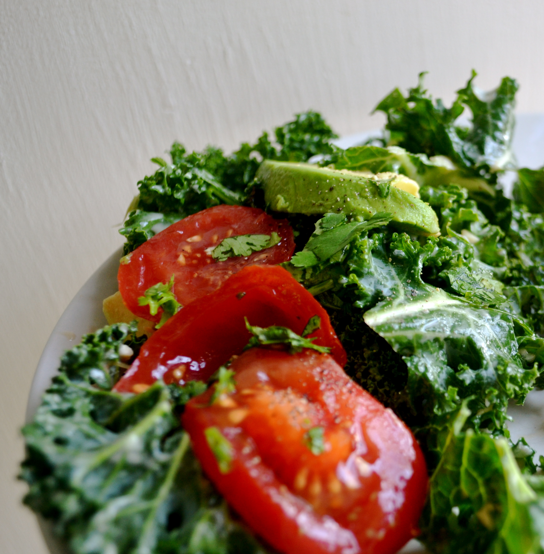 Kale Salad with Garlic Tahini Dressing | BIG EATS...tiny kitchen