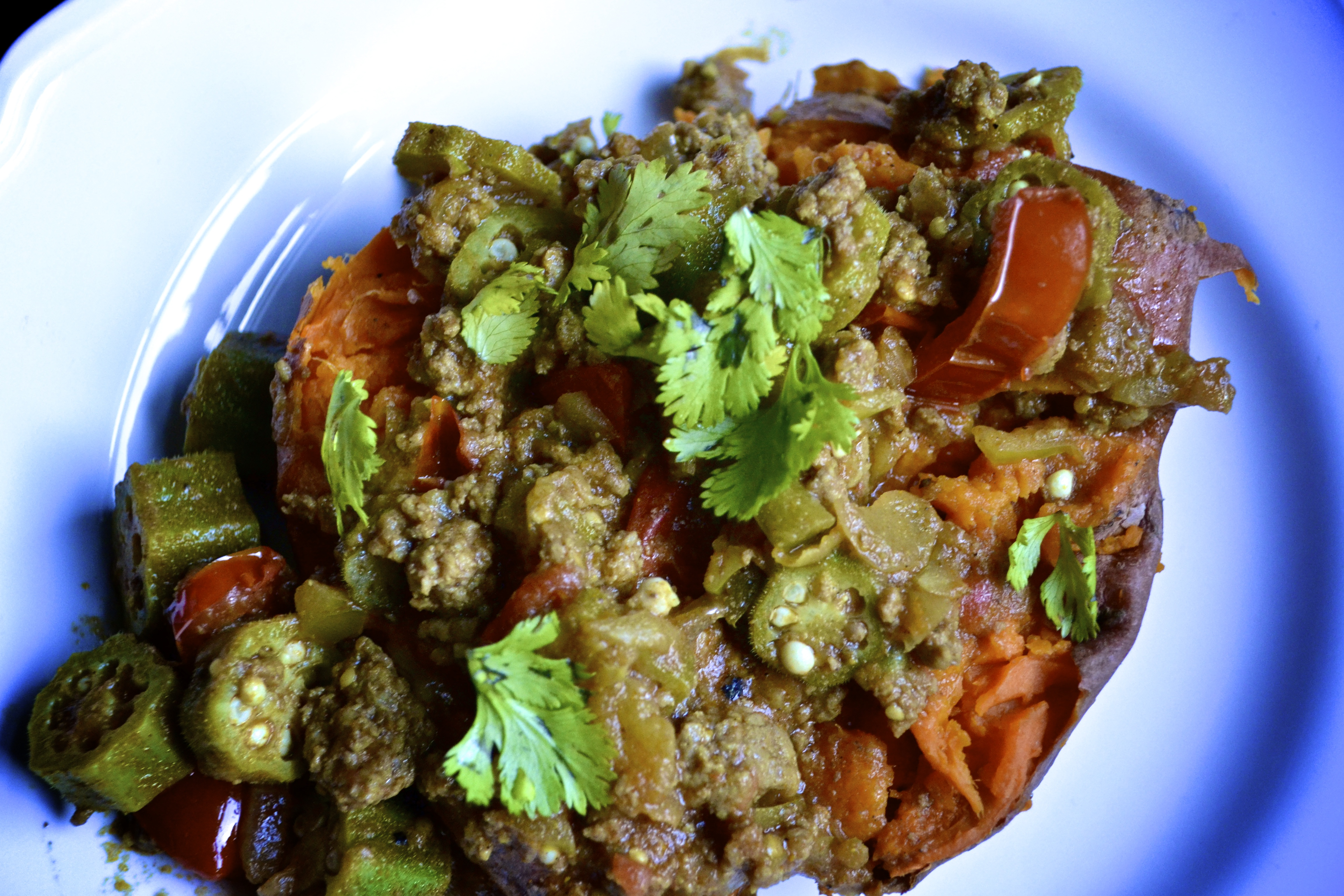 ground beef okra and tomatillo curry u2013 big eats tiny kitchen