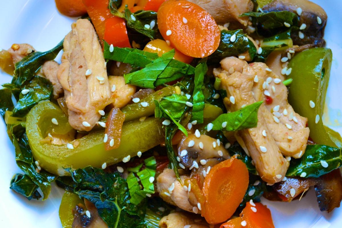 Basil Chicken Stir Fry | BIG EATS...tiny kitchen
