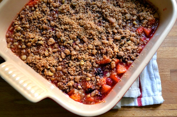 Paleo Cranberry Apple Cobbler
