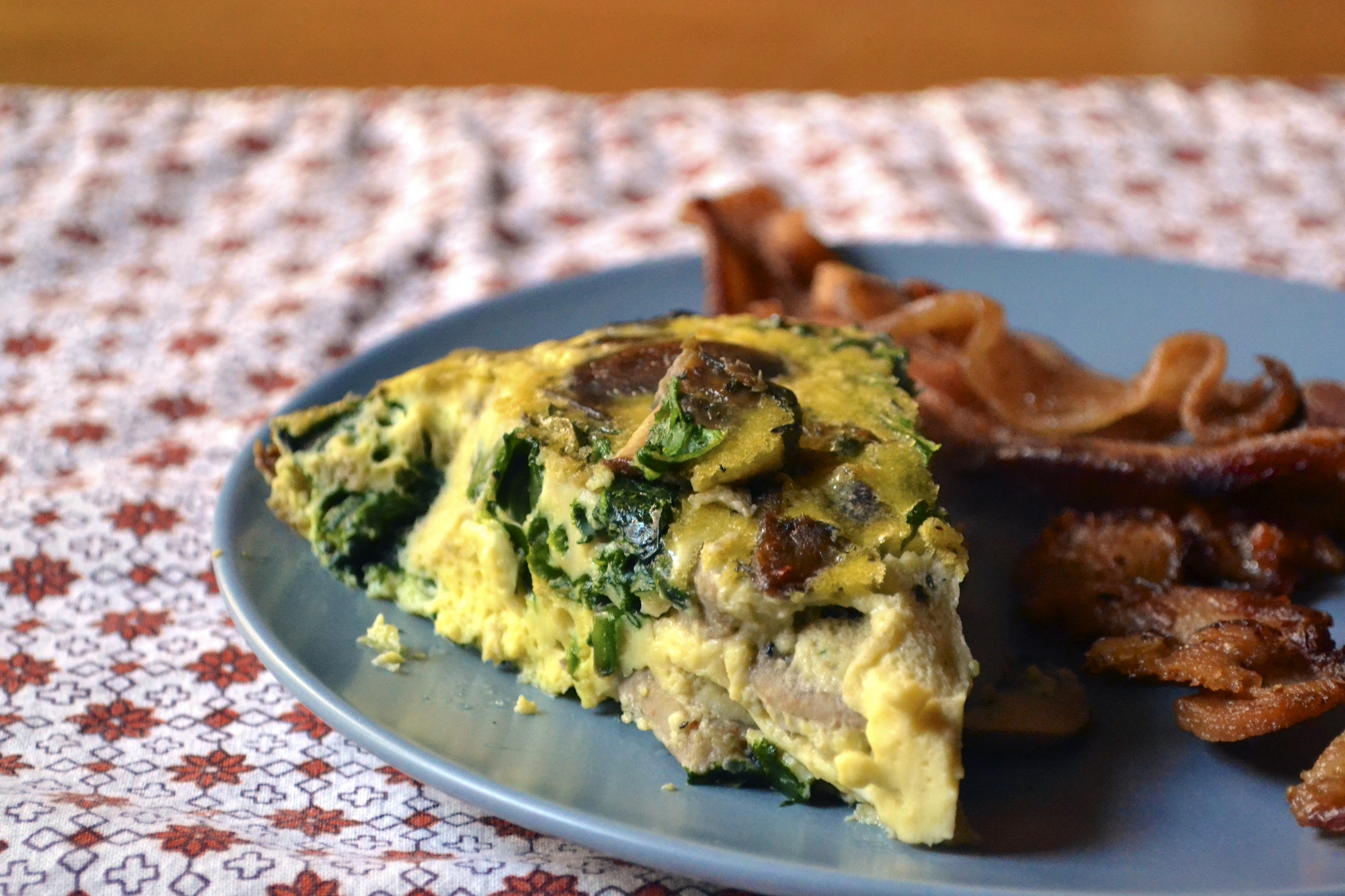 Mushroom, Spinach, and Sausage Crustless Quiche (Gluten Free and Dairy ...