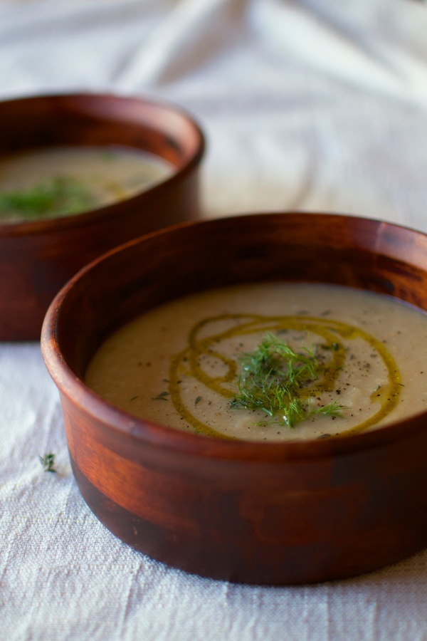 Roasted Parsnip, Cauliflower, and Fennel Soup / Big Eats Tiny Kitchen