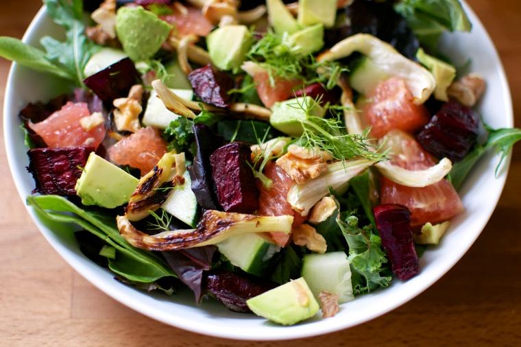 Beet, Fennel, Grapefruit, and Avocado Salad / Big Eats Tiny Kitchen