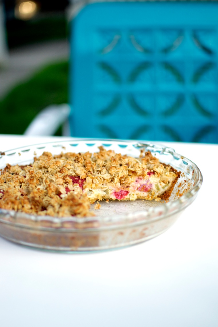 Gluten Free Strawberry-Rhubarb Cream Pie / Big Eats Tiny Kitchen