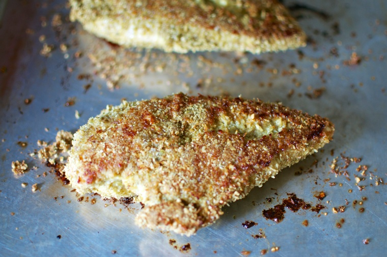 Paleo Curried Pumpkin Seed Crusted Chicken