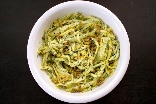 Summer Squash Pasta with Creamy Basil-Cilantro Dressing // Big Eats Tiny Kitchen