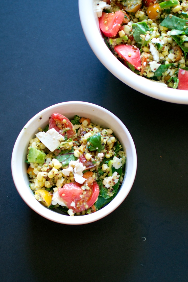 Fresh Corn, Tomato, and Quinoa Salad // Big Eats Tiny Kitchen (Gluten Free)