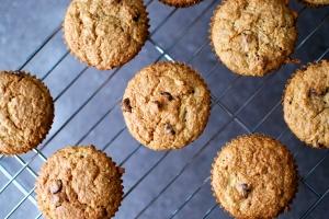 Gluten Free Chocolate Chip Zucchini Muffins // Big Eats Tiny Kitchen