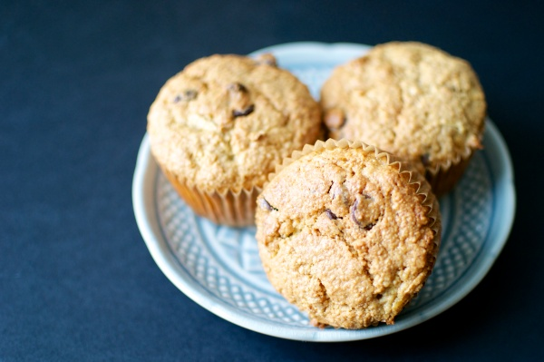 Gluten Free Chocolate Chip Zucchini Muffins // Big Eats Tiny Kitchen