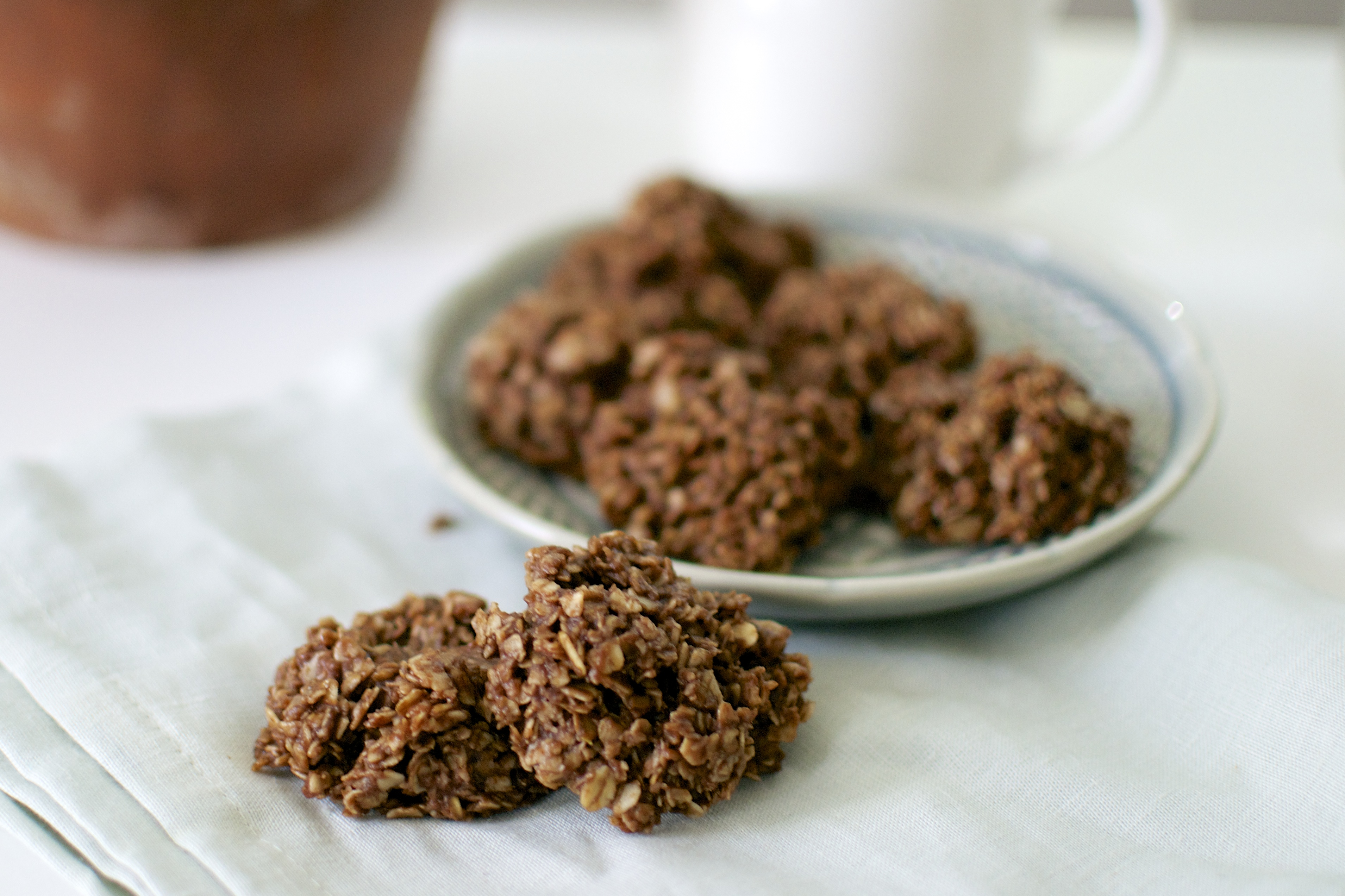 Peanut Butter, Chocolate, and Honey No Bake Cookies (Gluten Free ...