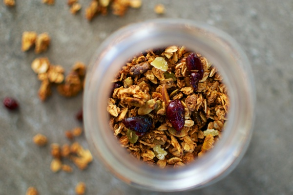 Cranberry, Ginger, and Maple Granola (Gluten Free) / Big Eats Tiny Kitchen