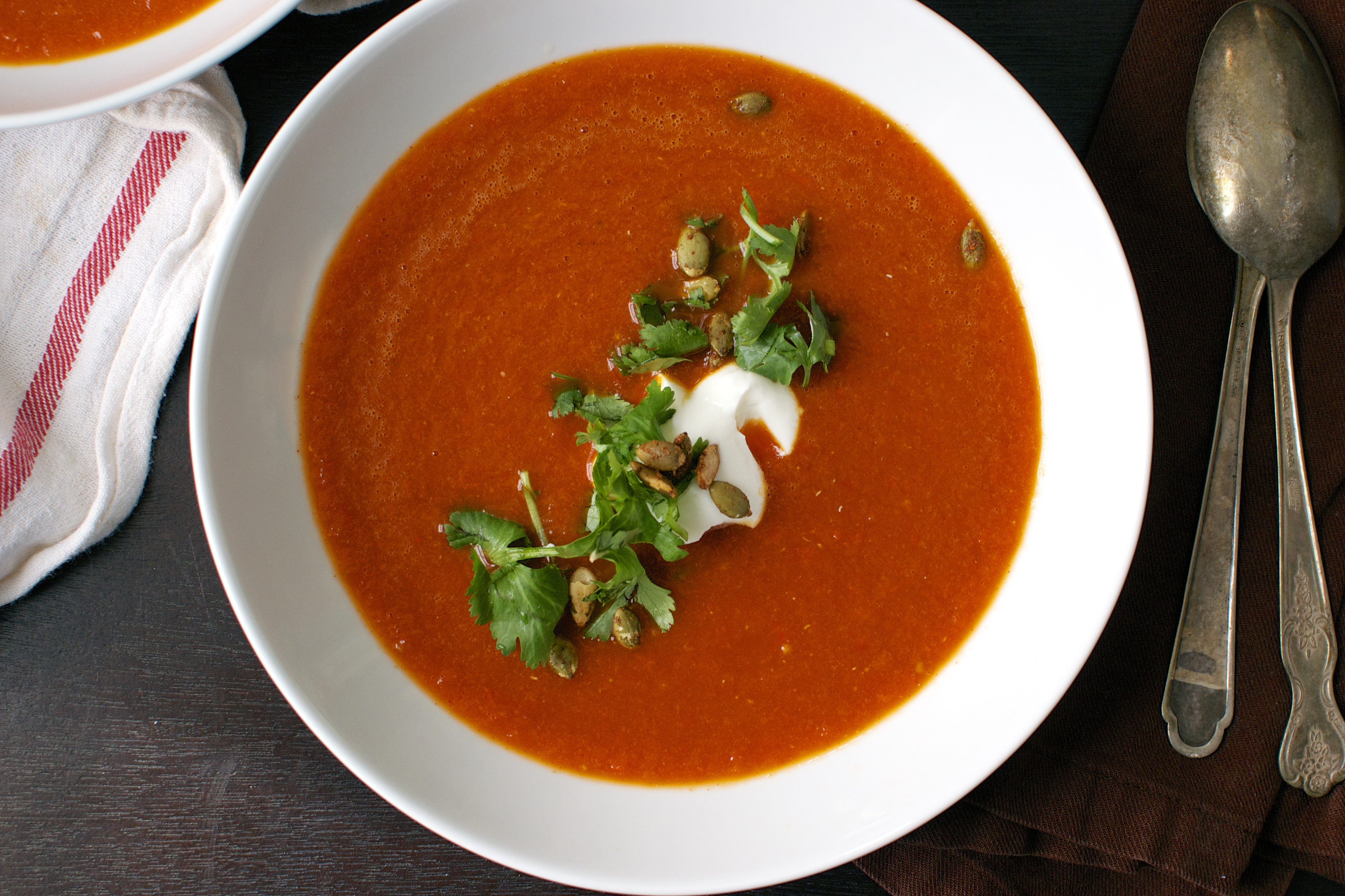 Big eats tiny kitchen page 3 cooking eating and for Roasted pepper tomato soup
