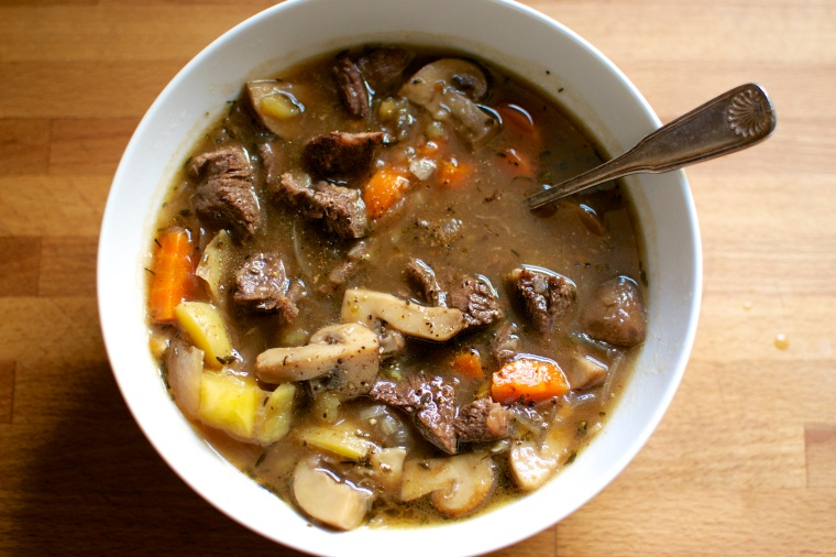 Crockpot Beef and Mushroom Stew // Big Eats Tiny Kitchen