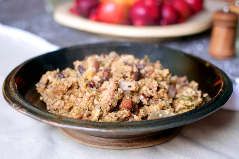 Slow Cooker Apple, Fennel, and Pecan Cornbread Dressing (Gluten Free) // Big Eats Tiny Kitchen