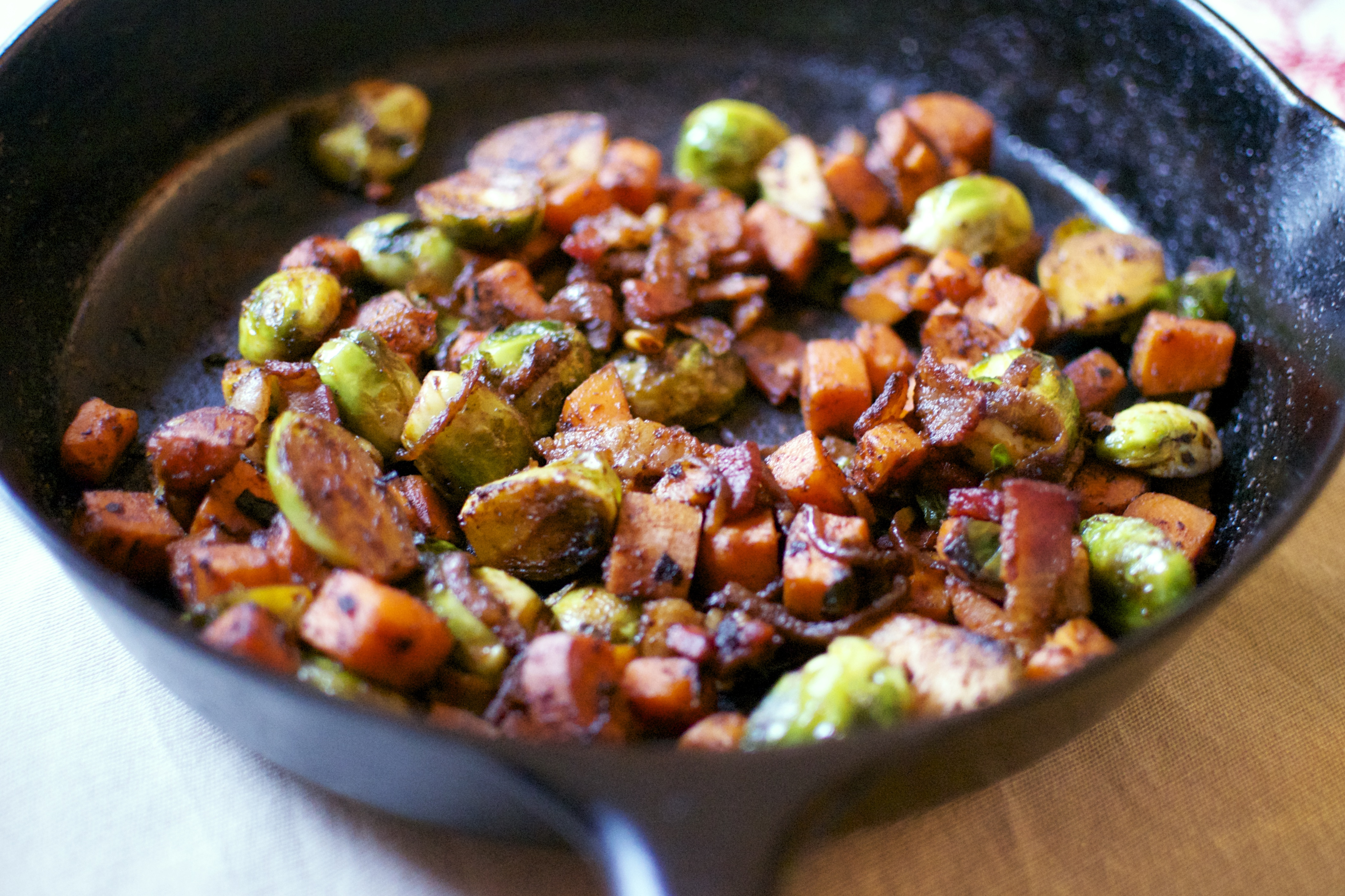 Smoky Brussels Sprout and Sweet Potato Breakfast Skillet ...