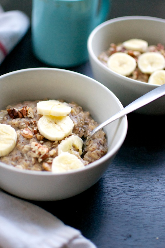 Banana Nut Oatmeal (Gluten Free, Dairy Free) // Big Eats Tiny Kitchen