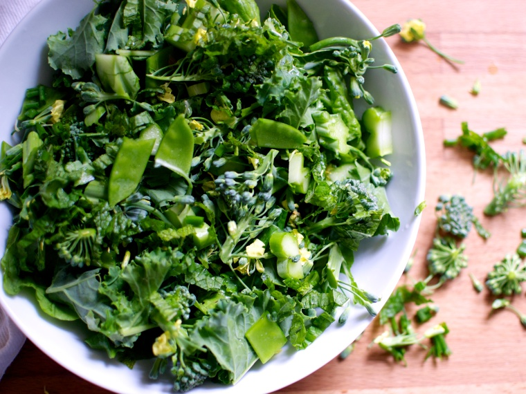 Super Green Spring Salad // Big Eats Tiny Kitchen